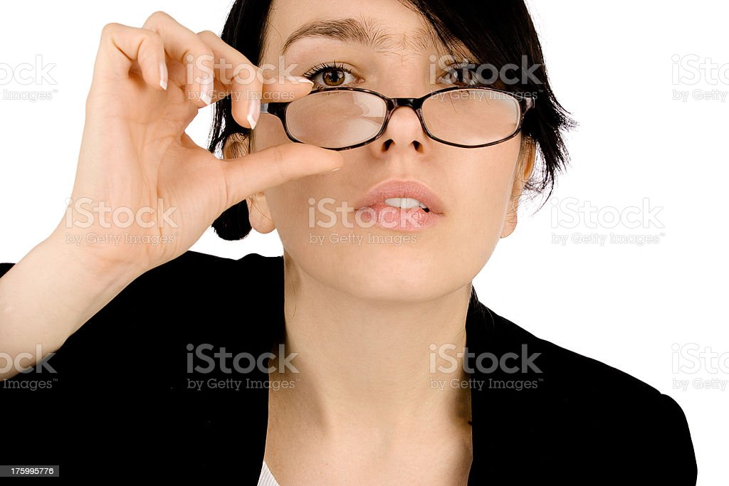 businesswoman with glasses 3 royalty-free stock photo