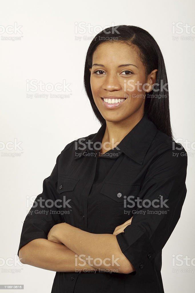 Femme d'affaires avec ses bras croisés photo libre de droits