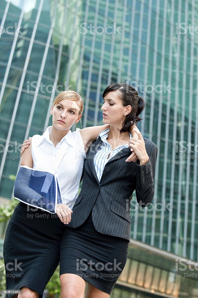 Businesswoman With Injured Arm stock photo