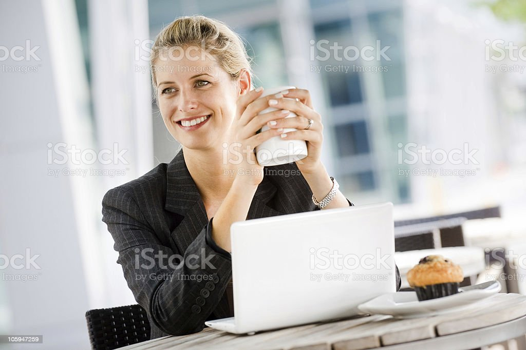 Businesswoman with Laptop royalty-free stock photo