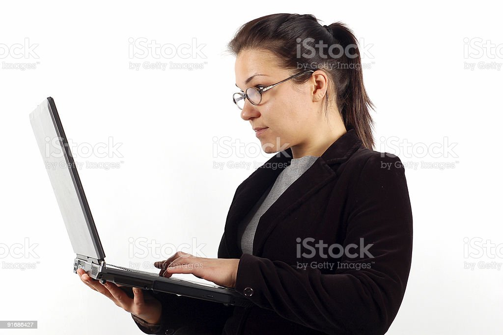 businesswoman with laptop #5 royalty-free stock photo