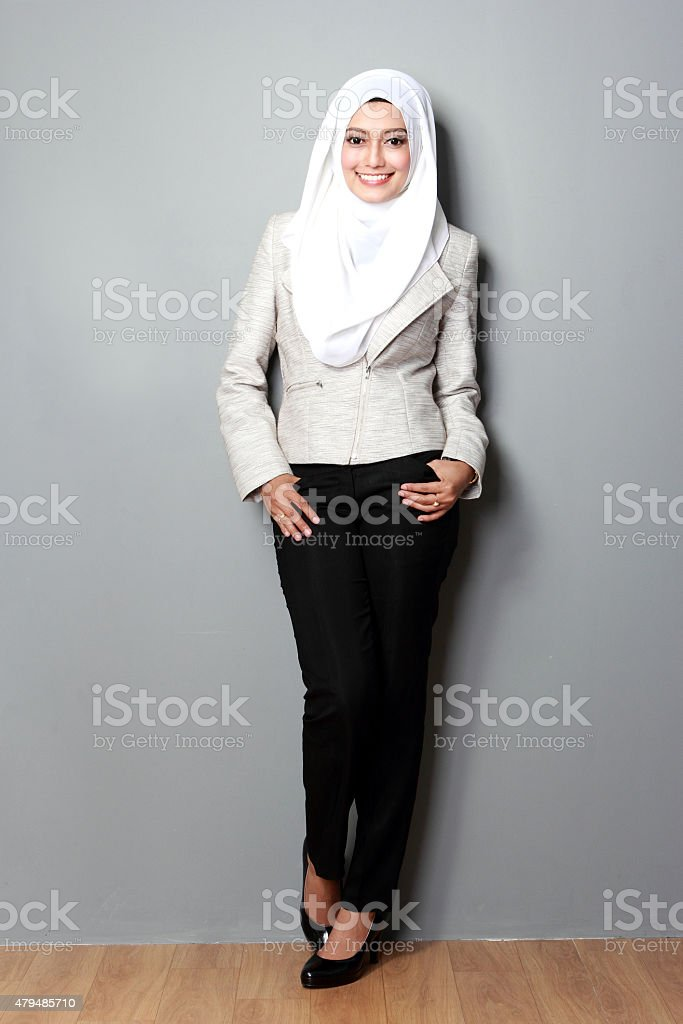 businesswoman with scarf stock photo