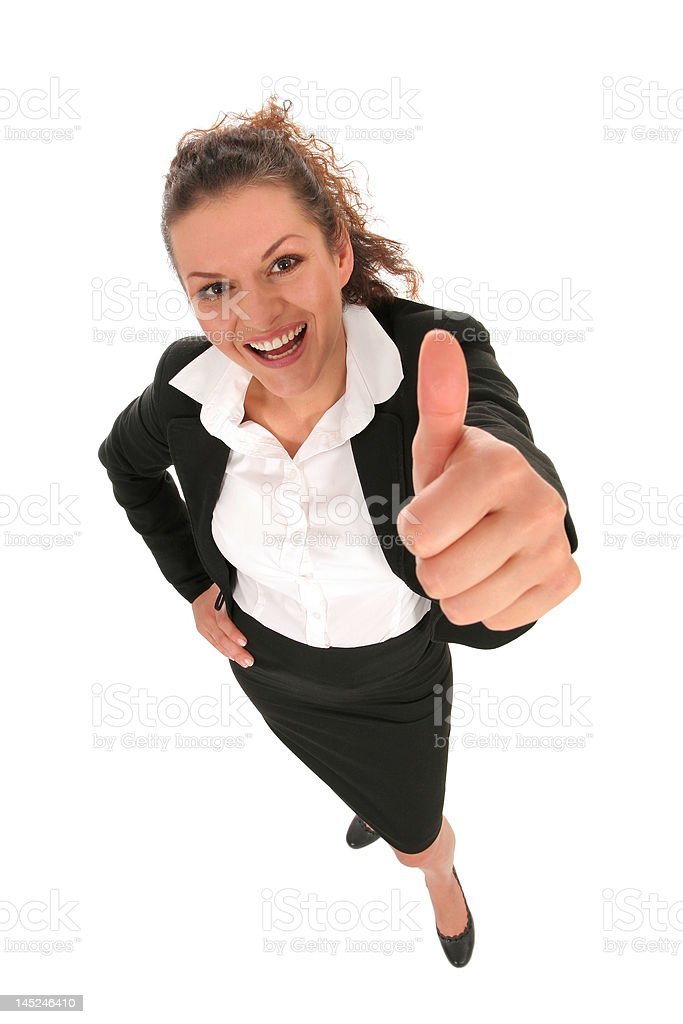Businesswoman With Thumb Up royalty-free stock photo
