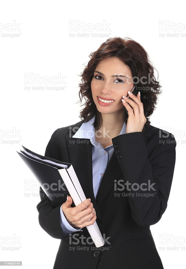 Businesswoman Wondering royalty-free stock photo
