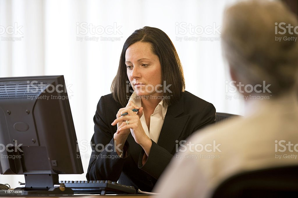 Businesswoman Working In Her Office royalty-free stock photo