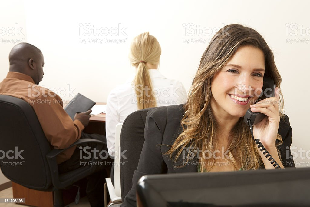 Businesswoman working in office. royalty-free stock photo