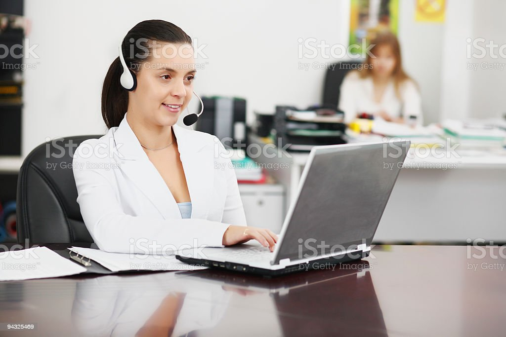 Businesswoman working on laptop. royalty-free stock photo