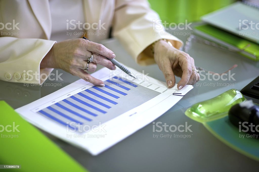Businesswoman working royalty-free stock photo