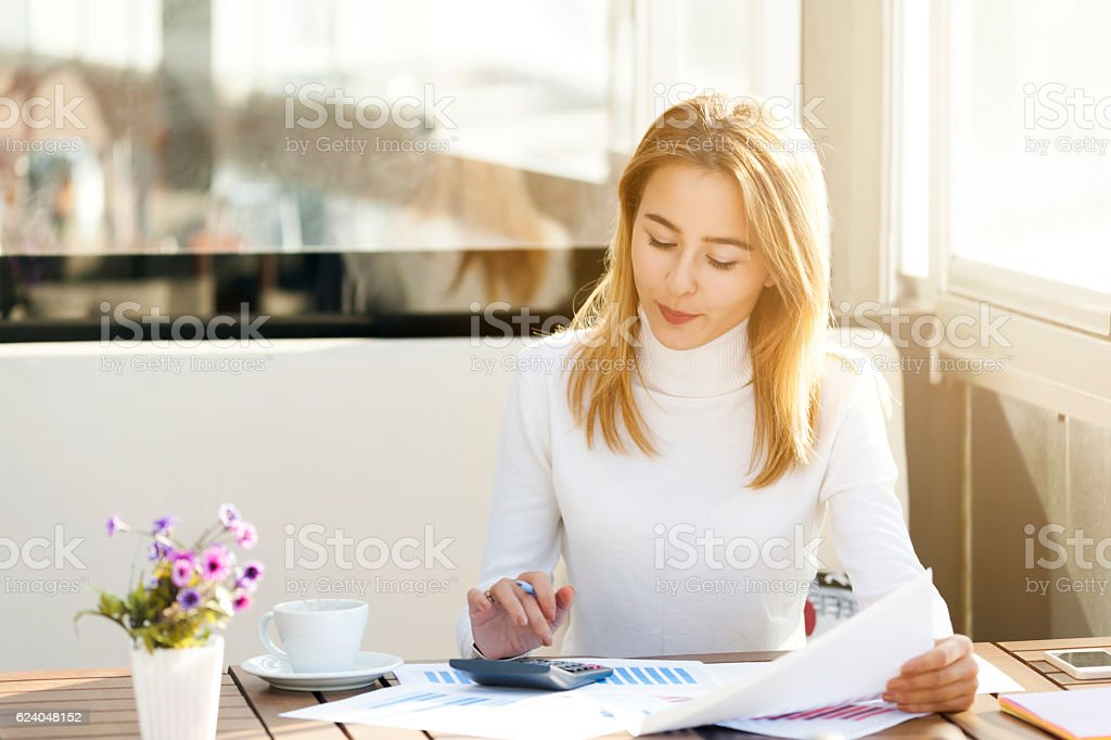 Businesswoman Working stock photo