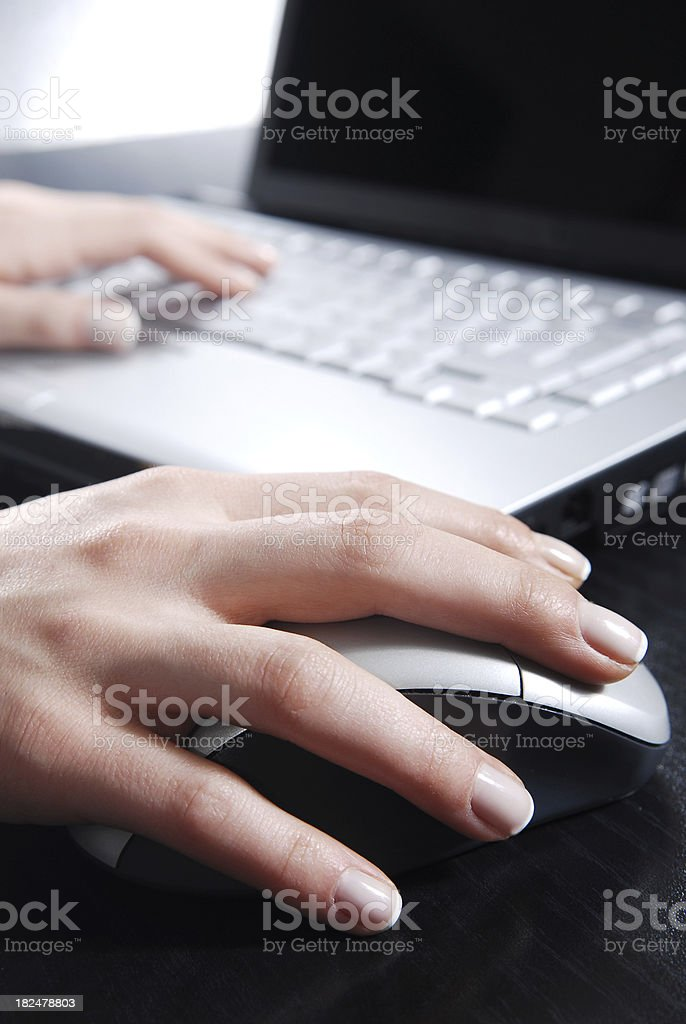 businesswoman working with laptop royalty-free stock photo