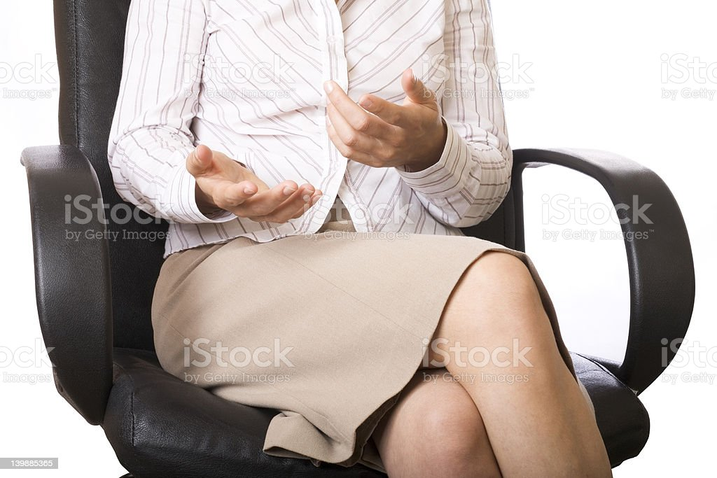 Businesswoman's hands royalty-free stock photo