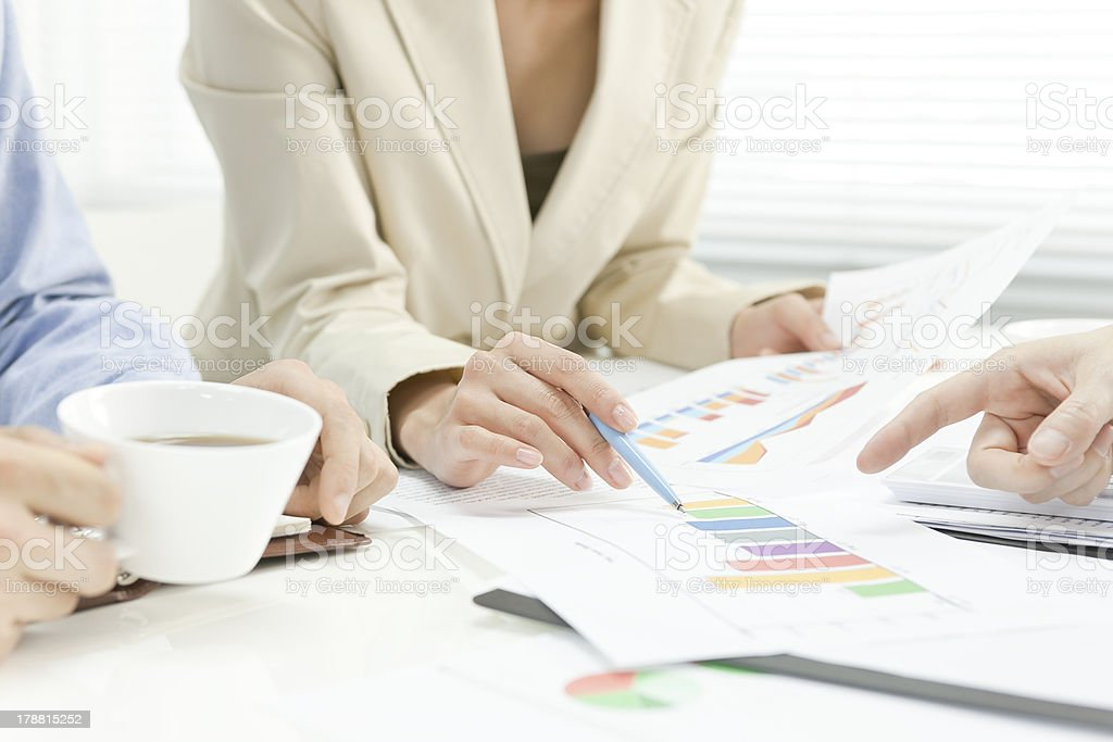 Businesswomans holding a meeting royalty-free stock photo