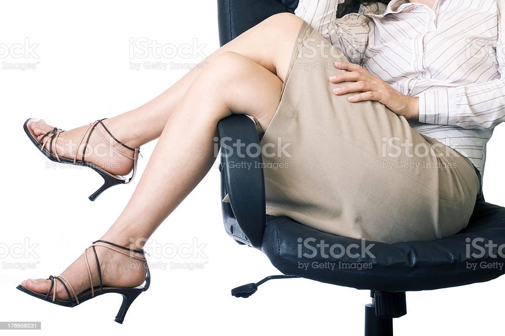 Businesswoman's legs royalty-free stock photo