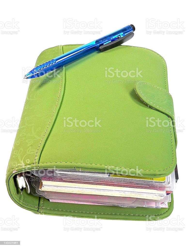 Businesswoman's Planner stock photo