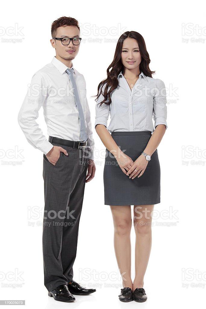 Businesswomen and Businessman Team on white royalty-free stock photo