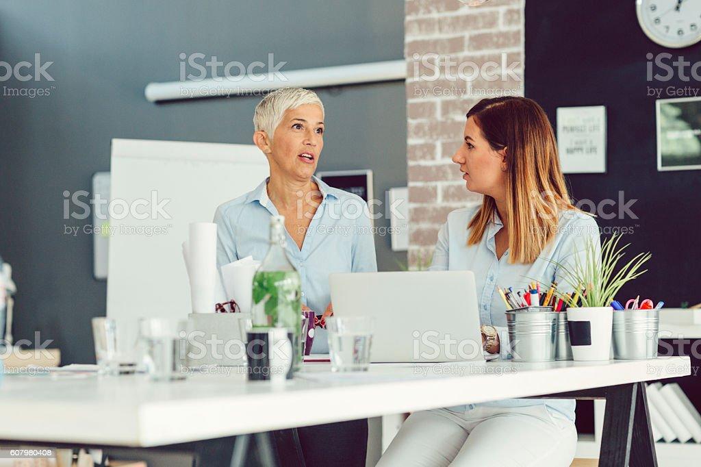 Businesswomen Brainstorming stock photo