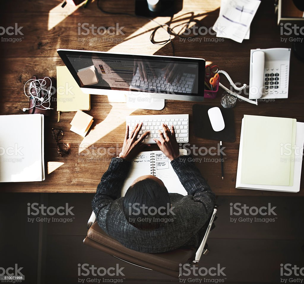 Businesswomen Creative Inspiration Occupation Concept stock photo
