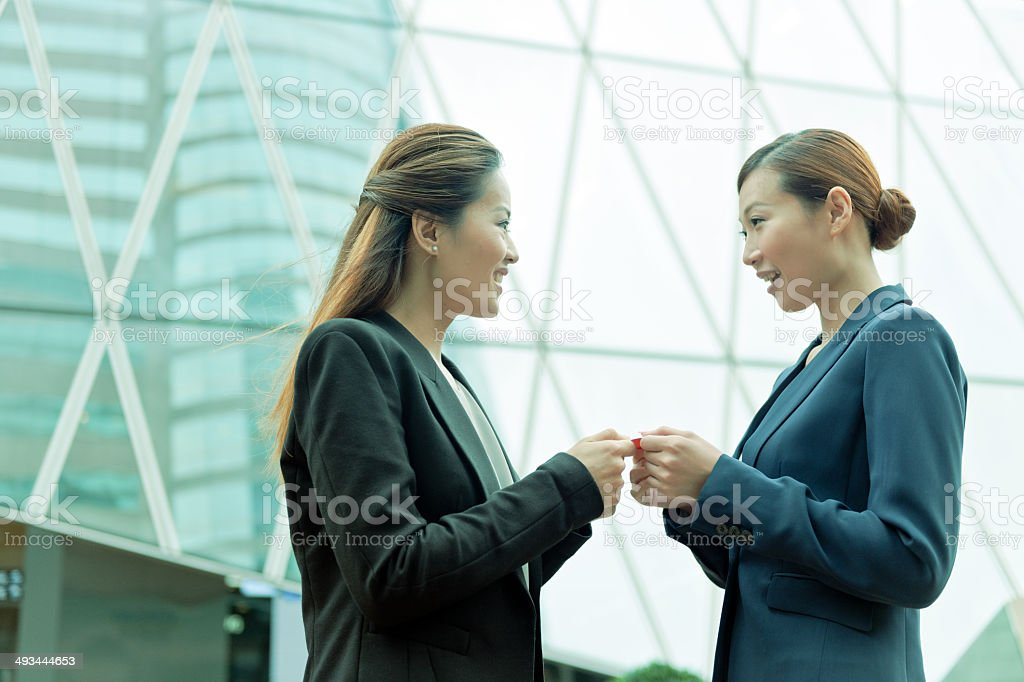 Businesswomen in Hong Kong, China royalty-free stock photo
