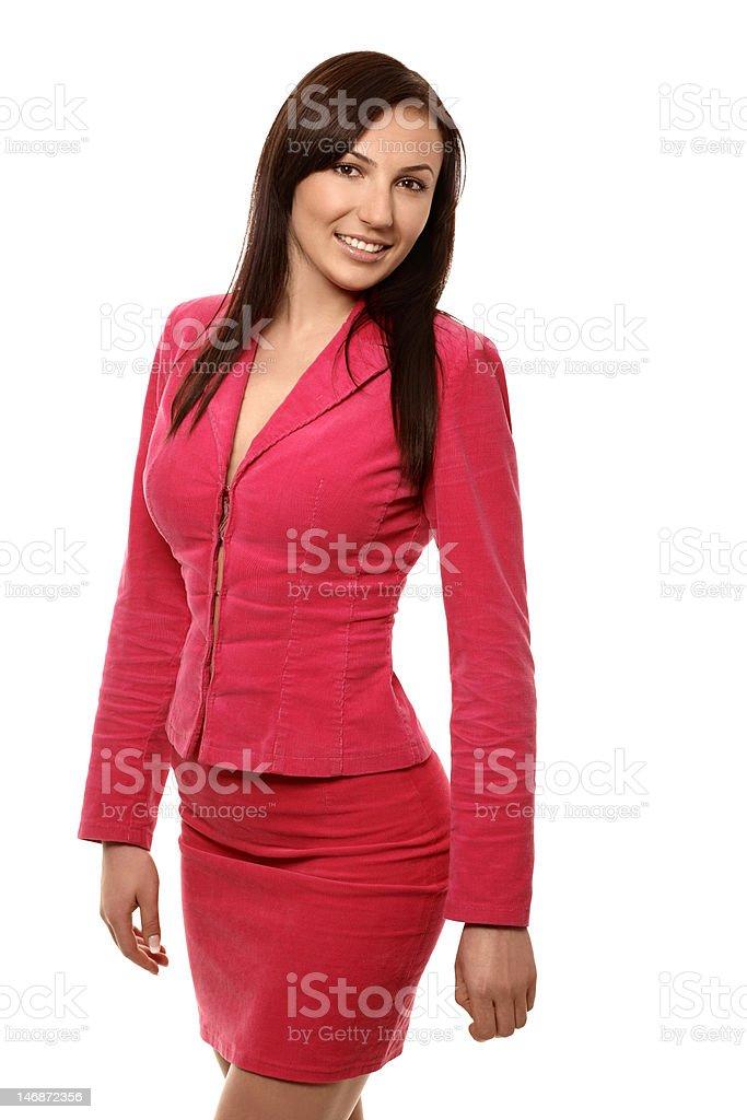 businesswomen in jacket royalty-free stock photo