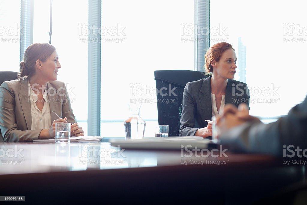 Businesswomen in meeting royalty-free stock photo