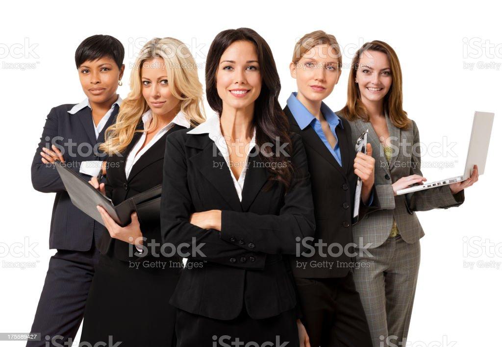Businesswomen Isolated on White Background stock photo
