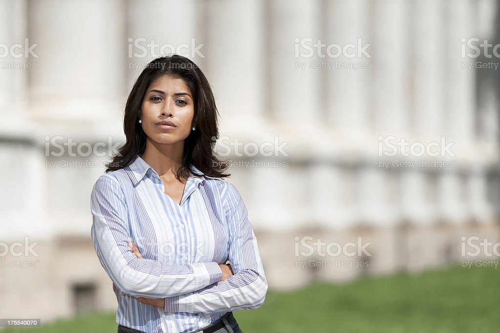 Businesswomen Lawyer at Courthouse royalty-free stock photo