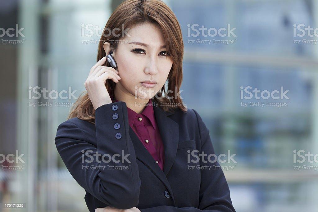 businesswomen making phone call royalty-free stock photo