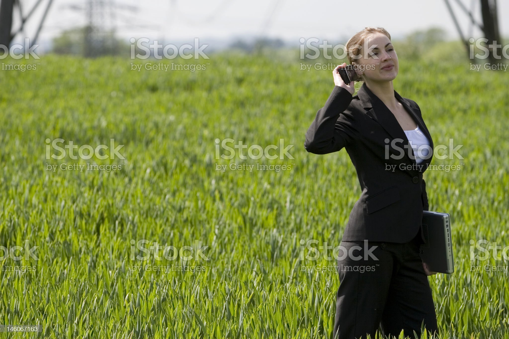 Businesswomen on the phone royalty-free stock photo