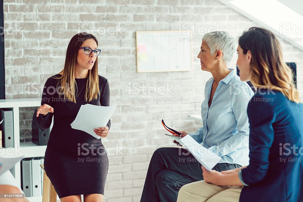 Businesswomen Only Meeting stock photo