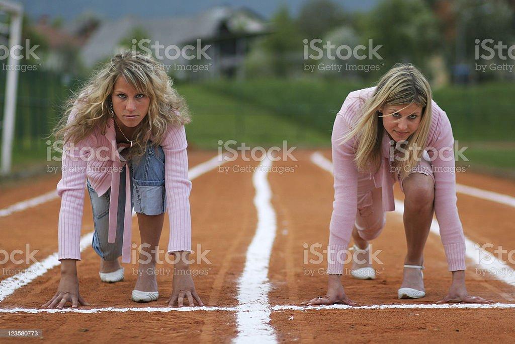 Businesswomen ready royalty-free stock photo
