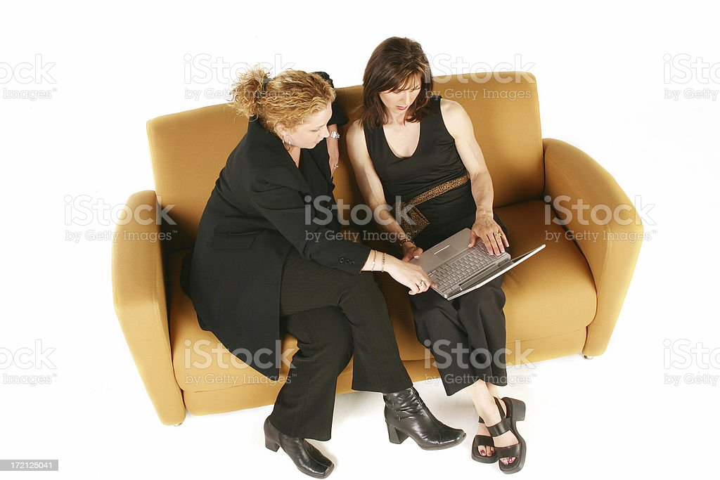 Businesswomen with laptop royalty-free stock photo