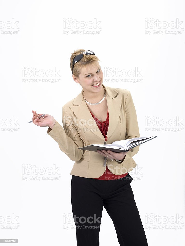 businesswomen with notebook royalty-free stock photo