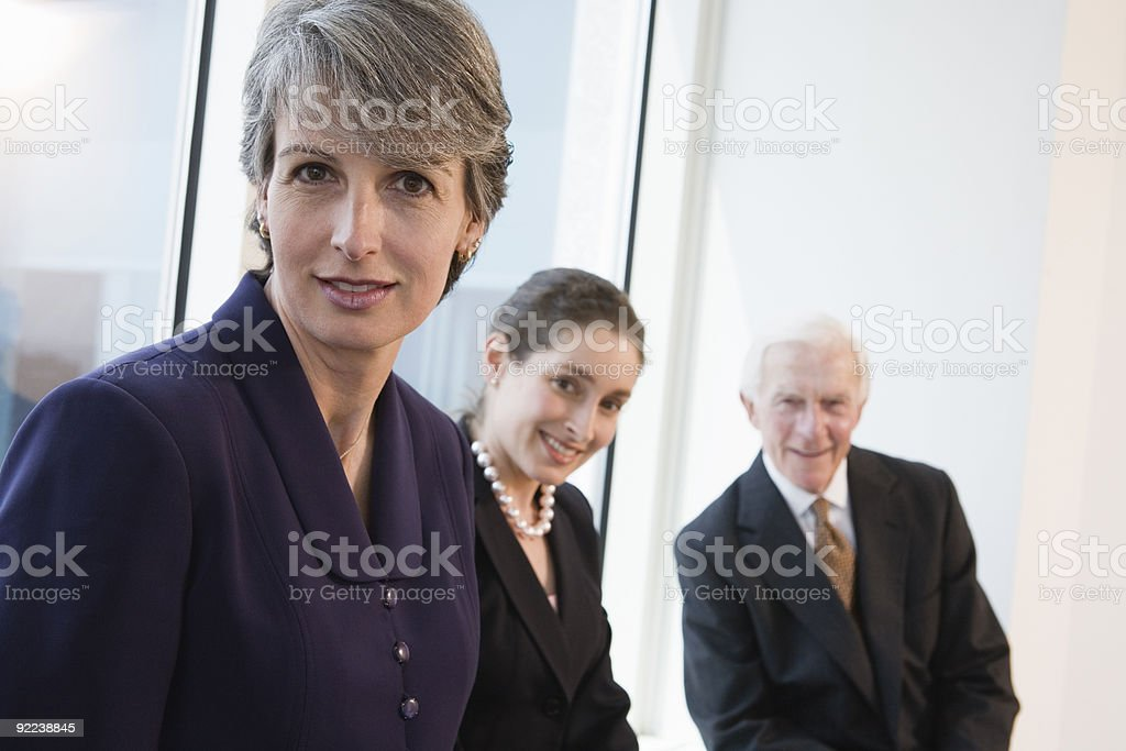 Businesswomen with Senior Partner at executive management meeting. royalty-free stock photo