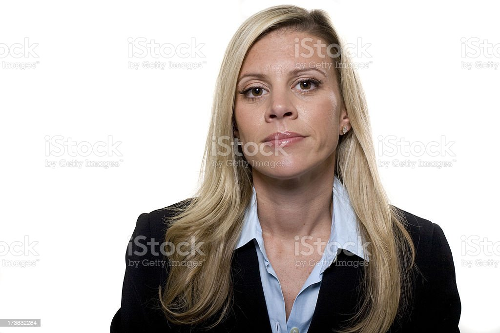 Businesswomen with stern expression royalty-free stock photo