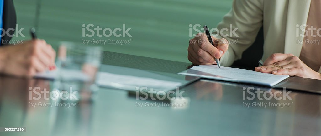 Businesswomen working in office stock photo