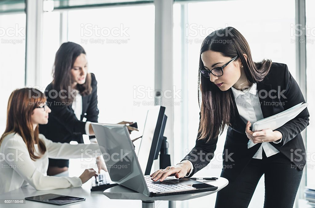 Businesswomen Working in the Office stock photo