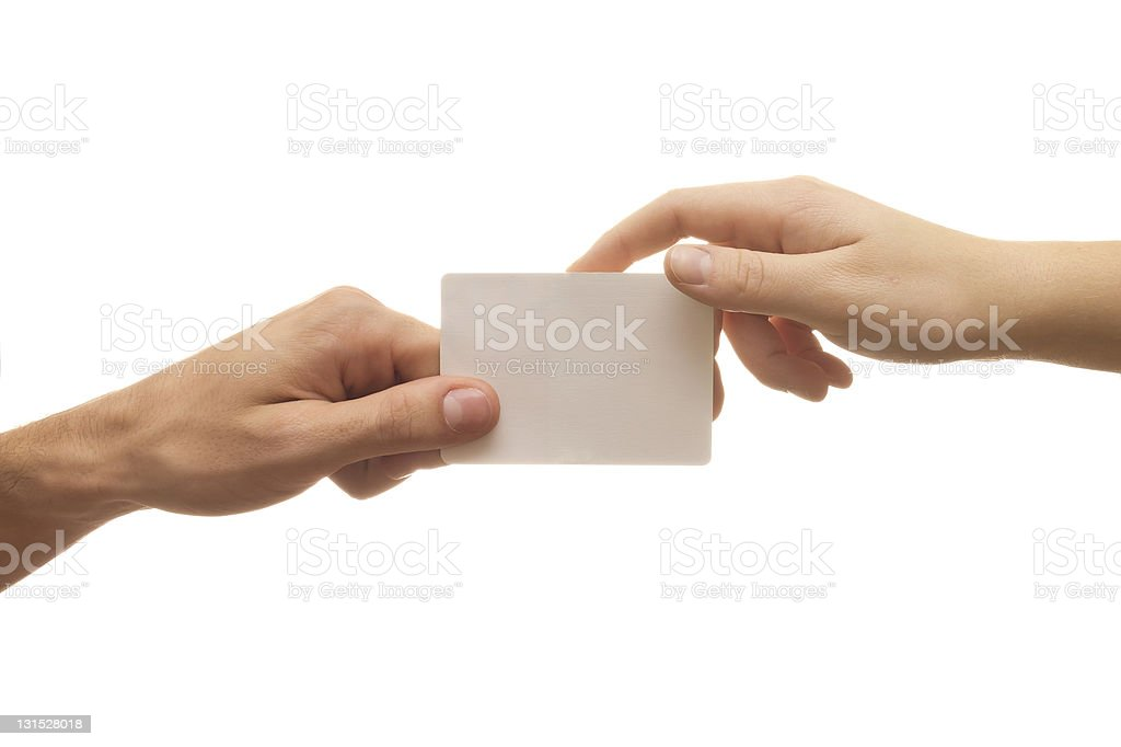 businnes card on white background stock photo