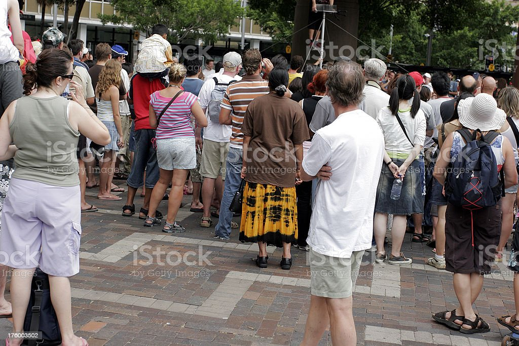 Busker Crowd royalty-free stock photo