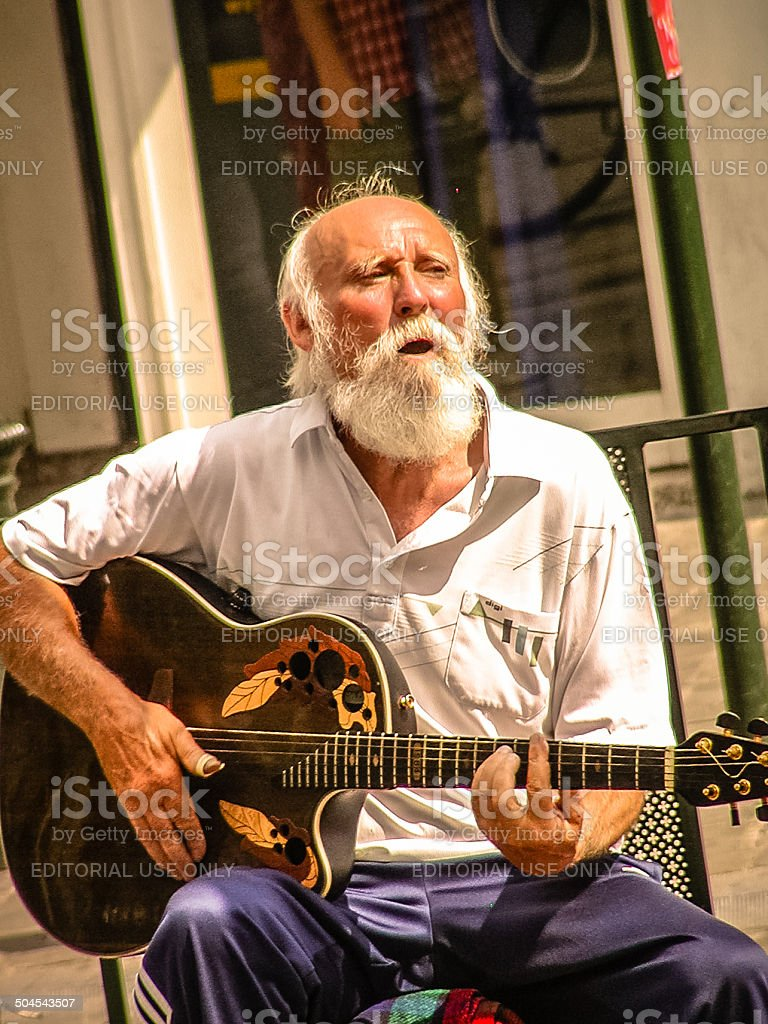 Busker in Brussels. royalty-free stock photo