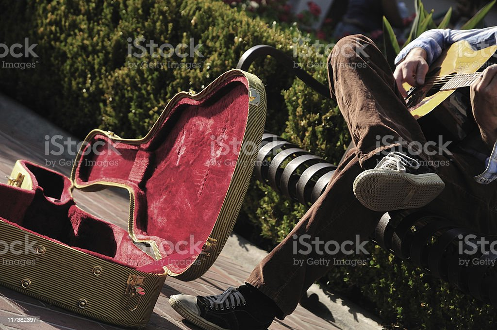 Busker's case royalty-free stock photo
