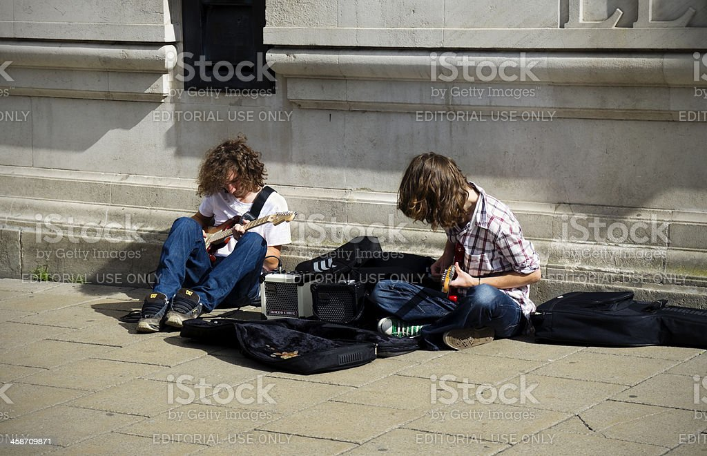 Buskers in Norwich royalty-free stock photo
