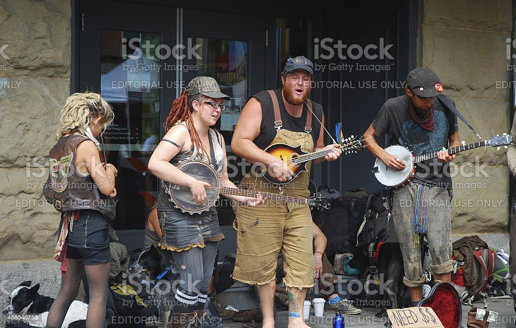 Buskers Playing Music stock photo