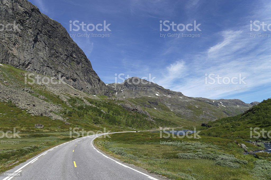 Buskerud Mountain Road stock photo
