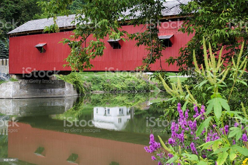 Buskirks Covered Bridge royalty-free stock photo