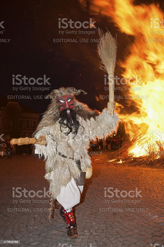 Buso with fire royalty-free stock photo