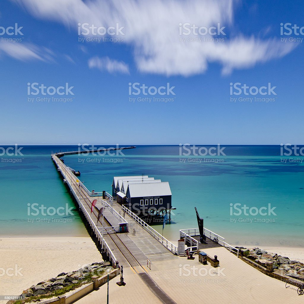 Busselton Jetty from the Viewing Tower stock photo