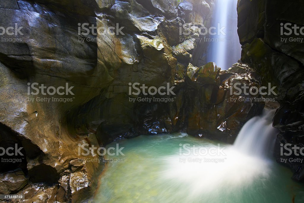 Busserailles Gorge stock photo