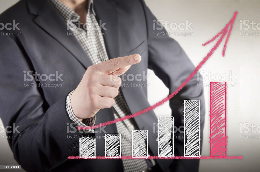 Bussines chart royalty-free stock photo