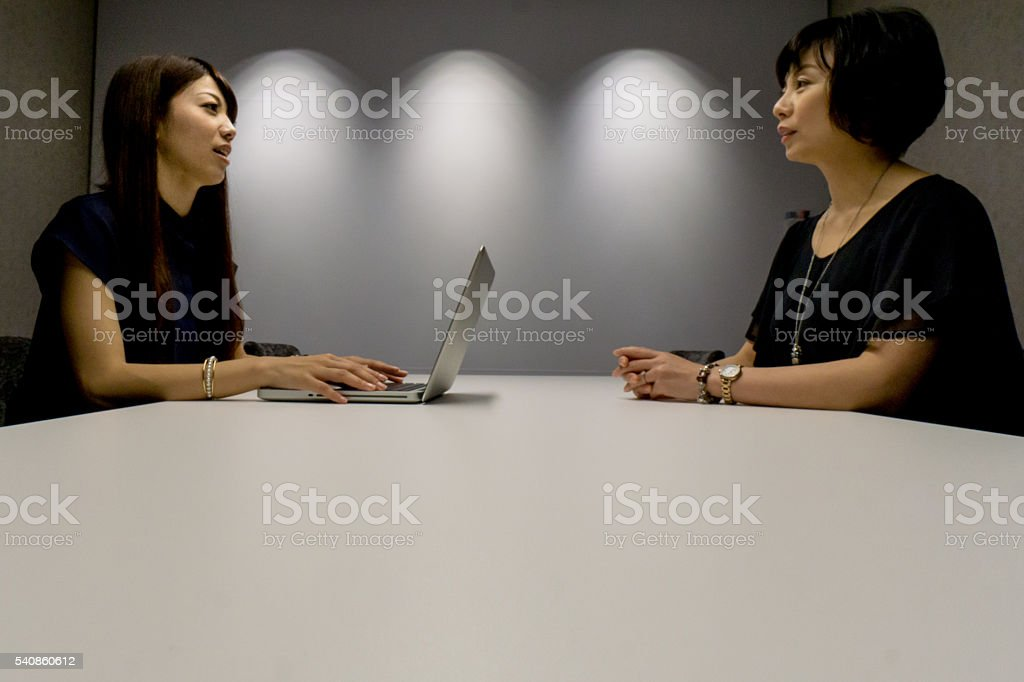 Bussines meeting with womens stock photo