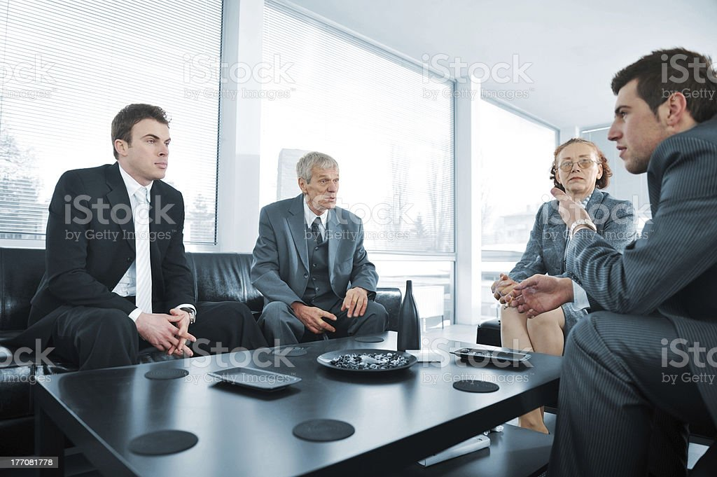 Bussines people having a break at office meeting royalty-free stock photo